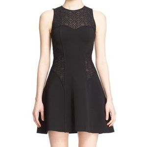 Jonathan Simkhai Eyelet Fit & Flare Dress Black